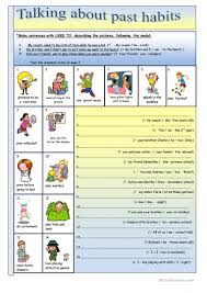 120 free esl past tense used to worksheets