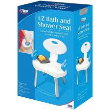 carex e z bath and shower seat chair with arm handles walmart com
