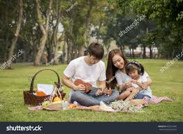 happy family garden beautiful family portrait happy asian family stock photo 439515484