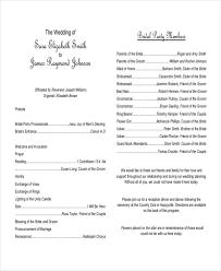 sle of wedding programs ceremony ceremony program template printable wedding programs pdf