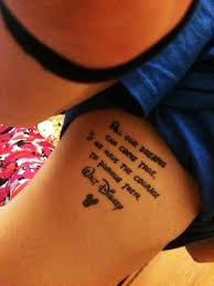 cute disney rib quote tattoos for girls rib quote tattoos for