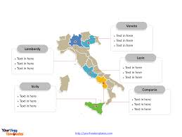 The Map Of Italy by Free Italy Powerpoint Map Free Powerpoint Templates