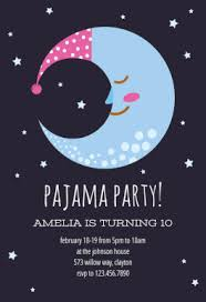 sleepy moon free printable sleepover party invitation template
