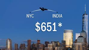 avail new york to india trip flight deals just in 651