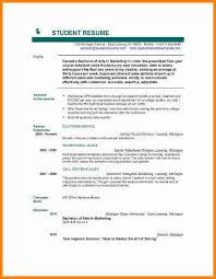 job resume format for college students good resume examples for