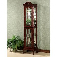 Glass Front Living Room Cabinets Curio Cabinet Antique Mission Oak Curved Glass Front Curio