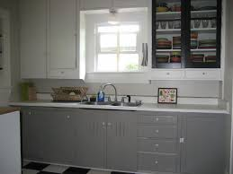 Paint Metal Kitchen Cabinets Kitchen Attractive Grey Cabinets 2017 Including How To Paint