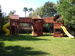 Backyard Swing Sets Canada Ii Wooden Swing Set Photo On Fabulous Backyard Playground Building