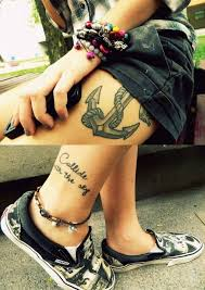 the 25 best anchor thigh tattoo ideas on pinterest anchor