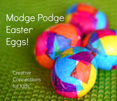 modge podge easter eggs