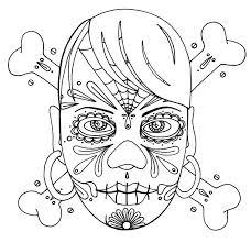 170 sugar skulls calavera coloring art print pages colouring
