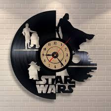 amazon com vinyl record clock star wars wall decor gift home