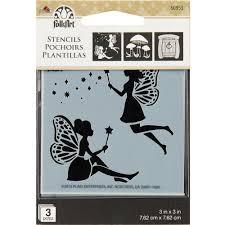 plaid craft mini stencil fairy u0026 mushroom papiria
