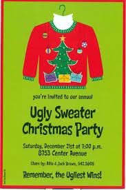 entrancing ugly christmas sweater party invitations templates
