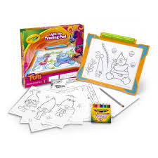 Light Up Drafting Table by Crayola Light Up Tracing Pad Featuring Trolls 20 Pieces