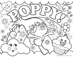 Les trolls poppy  Coloriage Les Trolls  Coloriages pour enfants