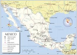 political map of mexico maps of mexico bizbilla com