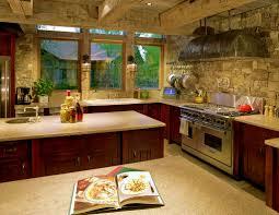 Stone Backsplash In Kitchen Inventive Kitchens With Stone Walls Kitchen Kitchen Lighting Drum