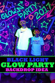 glow party ideas diy black light glow party idea neon paint backdrop photo