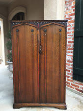 armoires for hanging clothes oak antique armoires wardrobes 1900 1950 ebay