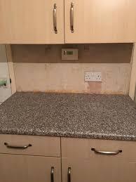 Tiled Kitchen Worktops - tiling above kitchen worktops tiling job in irvine ayrshire
