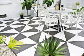 Patio Tile Flooring by Painted Patio Tile Diy U2013 A Beautiful Mess