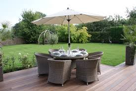 6 Seat Patio Dining Set - maze rattan milan 6 seat dining set with round chairs maze living