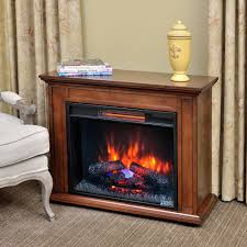 carlisle infrared electric fireplace heater in mahogany