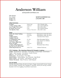 beginning resume actors resume template 10 acting resume templates free samples