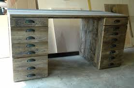 furniture diy reclaimed wood desk with drawers and x shaped legs