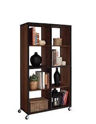 Open Shelving Room Divider Dorel Home Furnishings Cherry Mason Ridge Mobile Bookcase Room