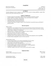 Objective In Resume For Experienced Software Engineer Free by Resumes Objectives Examples Resume Example And Free Resume Maker