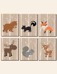Woodland Animals Nursery Decor Woodland Animals Nursery Decor Baby Boy Wall Room Wall