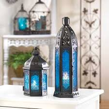cheap lantern centerpieces 6 floret blue candle lantern wedding centerpieces cheap