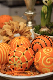 easy and cheap winter centerpiece diy creative oranges cloves