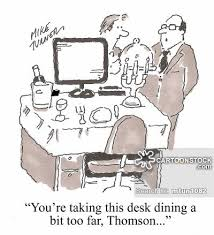 desk dining cartoons and comics funny pictures from cartoonstock