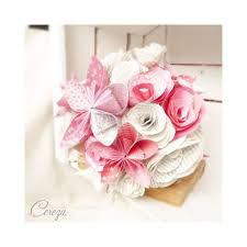 bouquet en papier bouquet mariage atypique fleurs de papier original rose rouge