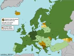Europe On World Map by Rubik U0027s Cube Fastest Times In Europe On A 5 Solves Average