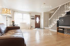 american home interior uncluttered family room in typical american home stock photo