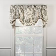 Tie Up Curtains Ellis Curtain Artissimo Lined Tie Up Valance 2 Colors