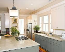 painted kitchen cabinets uppers in a different color than the