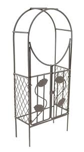 Metal Arbor With Gate Amazon Com Touch Of Nature Mini Iron Fairy Garden Arch With Gate