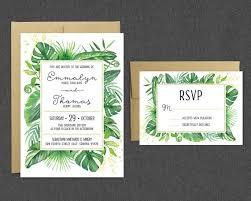 tropical wedding invitations printable tropical wedding invitation rsvp tropical greenery