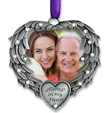 amazon com merry christmas from heaven photo ornament loved