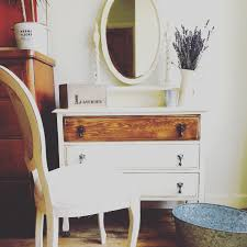 Shabby Chic Vanity Table by Shabby Chic Dressing Table And Chair In Rustoleum Antique White