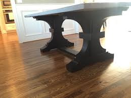Solid Top Dining Table by French Trestle And Concrete Top Table Kerf U0026 Burled Pinterest