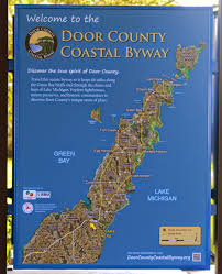 Door County Wisconsin Map by Wisconsin Historical Markers Door County Coastal Byway