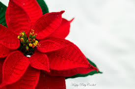 poinsettia flower by happy patty crochet