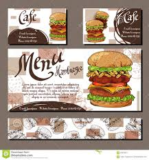 food templates free download cafe menu with hand drawn design fast food restaurant menu royalty free vector