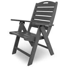 Outdoor Dining Chairs Polywood Nautical 5 Piece High Back Dining Set Pw Nautical Set6